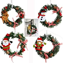 Jashem Mini Christmas Wreaths Artificial Small Pine Cones Wreath for Door Window X-mas Holiday Home Decoration