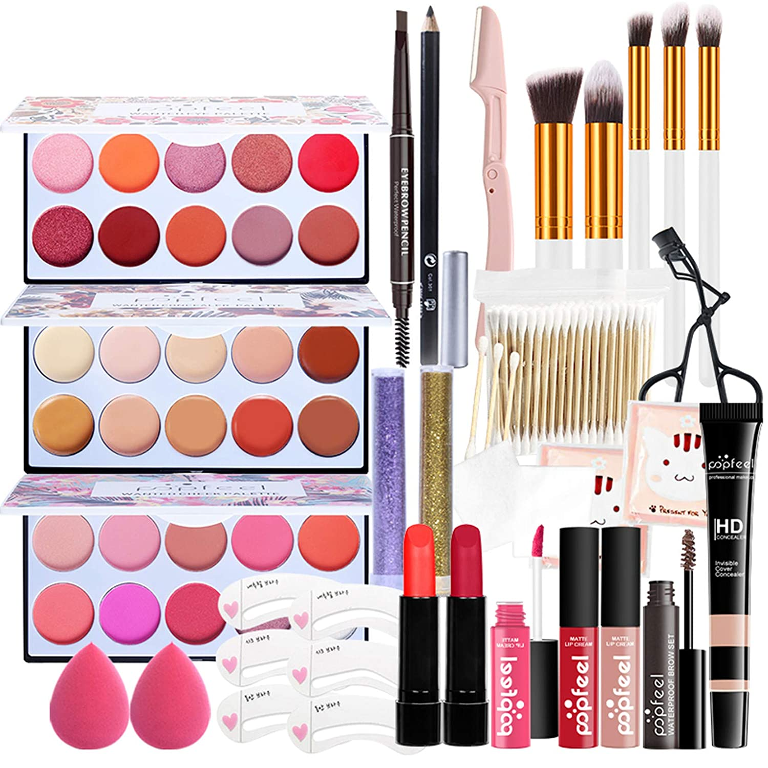 All-In-One Makeup Kit 25 Pcs Memphis Mall Gift Complete Full Set NEW