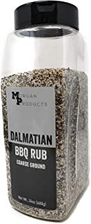 Dalmatian BBQ Dry Rub Coarse Ground Salt & Pepper, 24 Ounce | Beef, Pork, Poultry, Seafood, Vegetables | Gluten Free, No a...