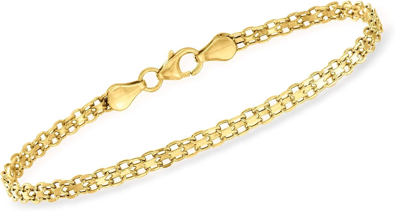 Ross Simons Italian 21kt Yellow Gold Bismark Link Bracelet