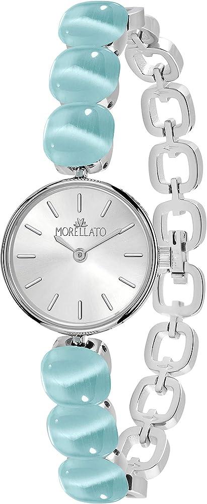 Morellato,orologio per donna,in acciaio inossidabile e pietre cat eye R0153154503