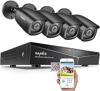 SANNCE CCTV Camera System 1080P 8CH DVR Recorder w/ 4 2.0mp HD-TVI Camera, Super Night Vision, Easy Remote Accrss, H.264 R...