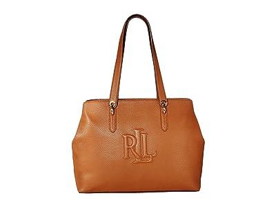 LAUREN Ralph Lauren Highfield 36 Tote Medium (Lauren Tan) Tote Handbags