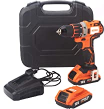 Lawazim Cordless Compact Brushless Drill 18V with Two Batteries 13 millimeter