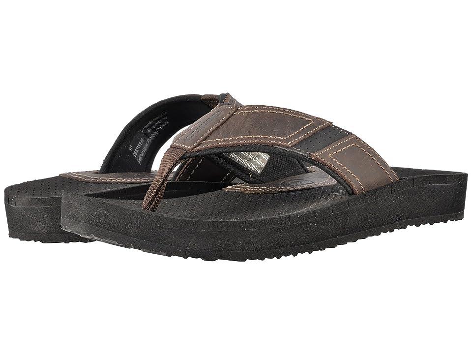 Dunham Carter Flip-Flop (Brown) Men