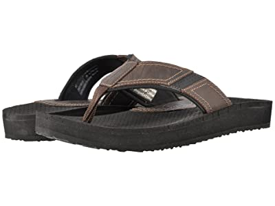 Dunham Carter Flip-Flop (Brown) Men