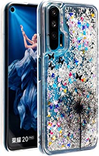 HMTECHUS Honor 20 Pro Case Glitter Liquid Sparkle Floating Shiny Quicksand Clear Soft TPU Silicone Shockproof Protective Bumper Thin Cover Skin for Huawei Honor 20 Pro