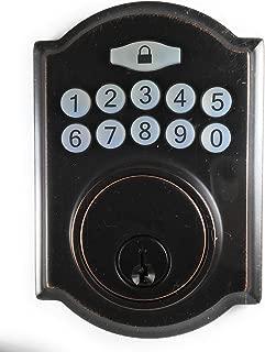 Electronic Deadbolt Defiant Door Lock Aged Bronze