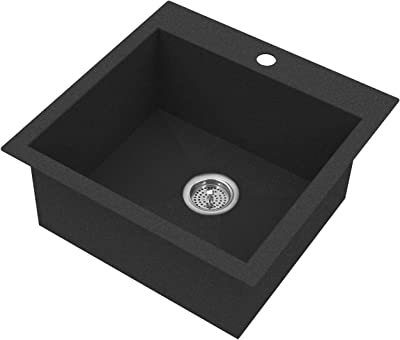 Artika GS150-BMG-DY Odyssey Composite Granite Single Kitchen Sink, Grey