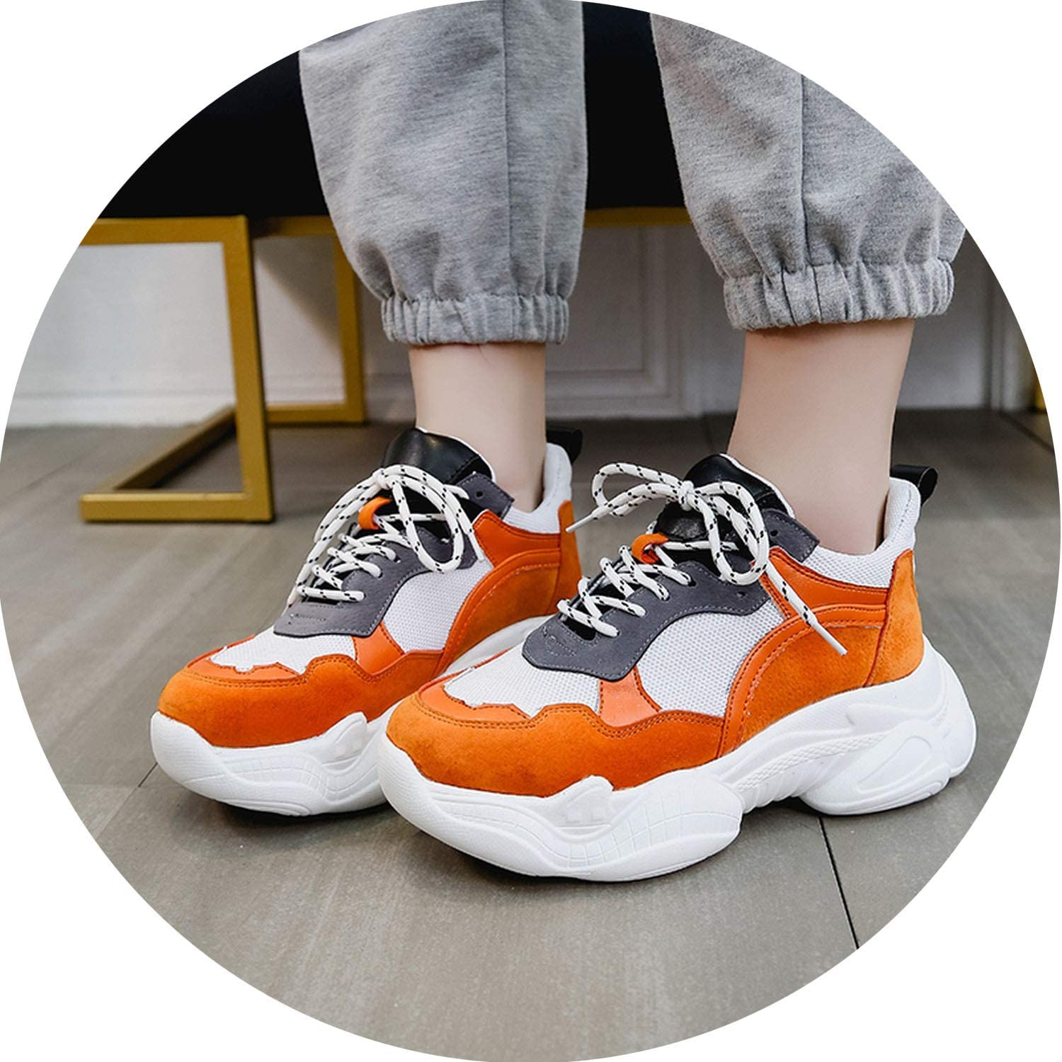 Little Happiness- Sneakers Women shoes Women Casual Sneakers Female Height Increasing Lace Up shoes