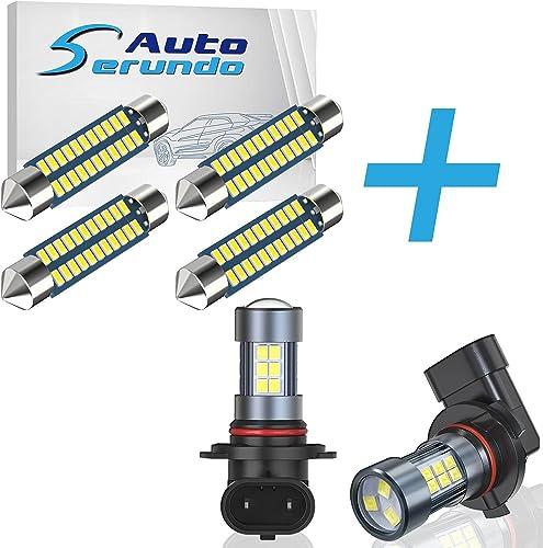 high quality Serundo Auto 4pcs new arrival 578 Led Bulb + 2pcs H10 2021 LED Fog Light outlet online sale