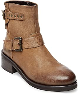 Women's Zillion Biker Boots, Cognac Nubuck, 8 M
