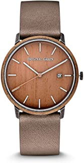 Original Grain   Koa Stonewashed Steel Modern Minimal 40mm Watch   Stonewashed Stainless Steel   Scratch & Water Resistant...