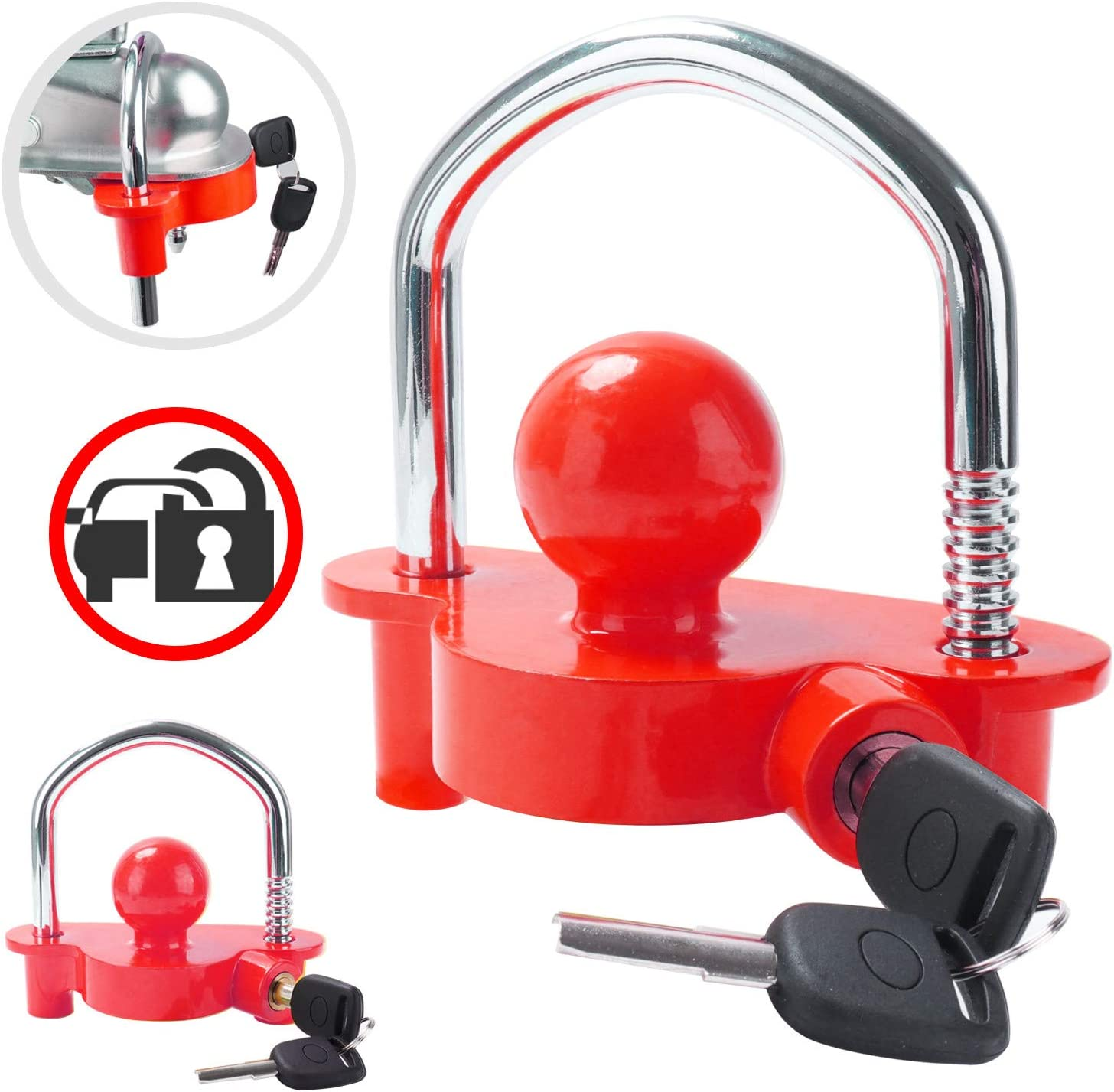Tevlaphee Universal Trailer Selling Ball Tow Heavy Adjustable Hitch Lock Daily bargain sale