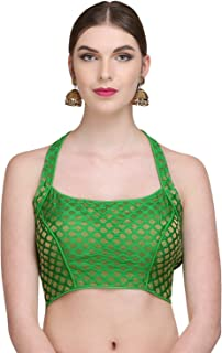 NIKA Women's Brocade & Poly Dupion Woven Padded Designer Saree Blouse by Kaanchie Nanggia
