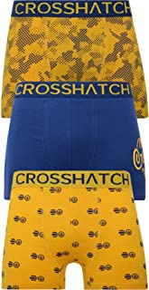 Crosshatch Mens 3 Pack TRESCO' Boxers Shorts Underwear Trunks Multipack Set