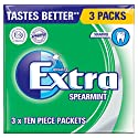 Extra Wrigleys Spearmint SF (Pack of 3)