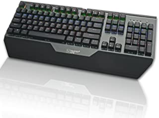 Vander メカニカル式 キーボード ゲーミングキーボード 青軸防水機能付き 8パターン LED バックライトモード usb接続 有線 高感度 抗衝突 機械式 キーキャププーラー付き Win10/8/7/XP/MacOS/Vista対応 (1...