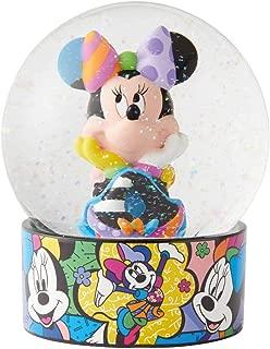 Enesco Disney by Britto Minnie Mouse Waterglobe Waterball, 5.12 Inch, Multicolor
