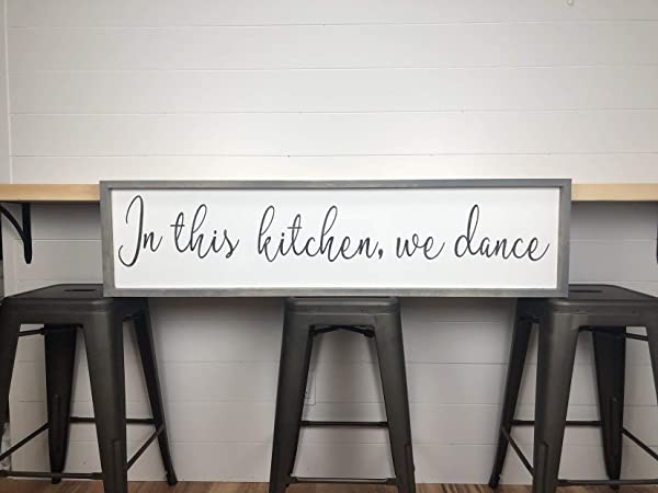 MaxwellYule In This Kitchen We Dance Wood Sign