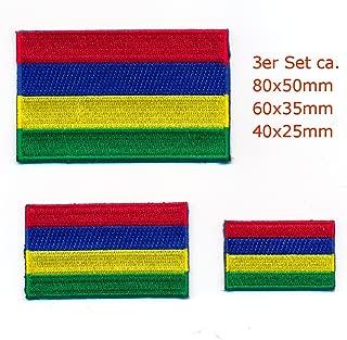 30/x 20/mm Maurice Rodrigues Port Louis Drapeau /Écusson thermocollant 1018/Mini