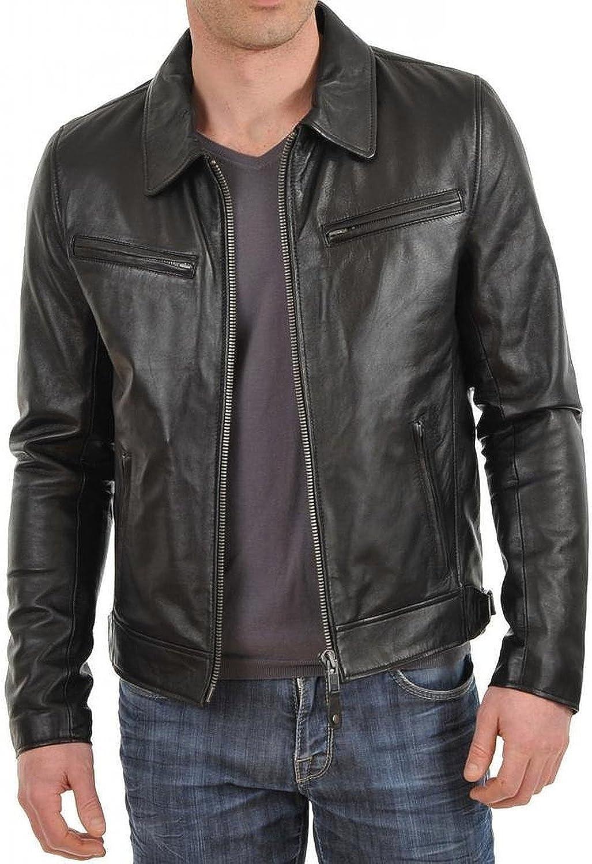 Laverapelle Men's Black Genuine Lambskin Leather Jacket - 5059