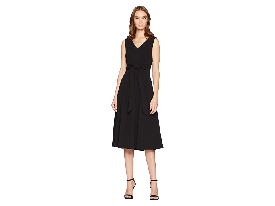Calvin Klein Tie Waist A-Line Dress CD8C11MR (Black) Women