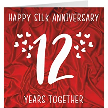 12th Wedding Anniversary Card Amazon Co Uk Office Products