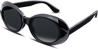FEISEDY Rétro Ovale Lunettes de Soleil Protection UV400 Clout Goggles Lunettes de Soleil Femme et Homme B2253