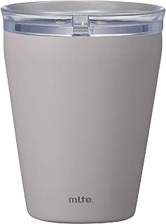 シービージャパン タンブラー グレー 食洗機対応 240ml 保温 保冷 ステンレス製 セラミック加工 透明ふた付きき ELタンブラー Mlte