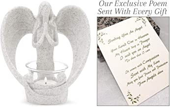 Sending You an Angel Candle Holder to Express Sympathy for Funeral Or Memorial Comfort The Grieving for Loss of A Loved One