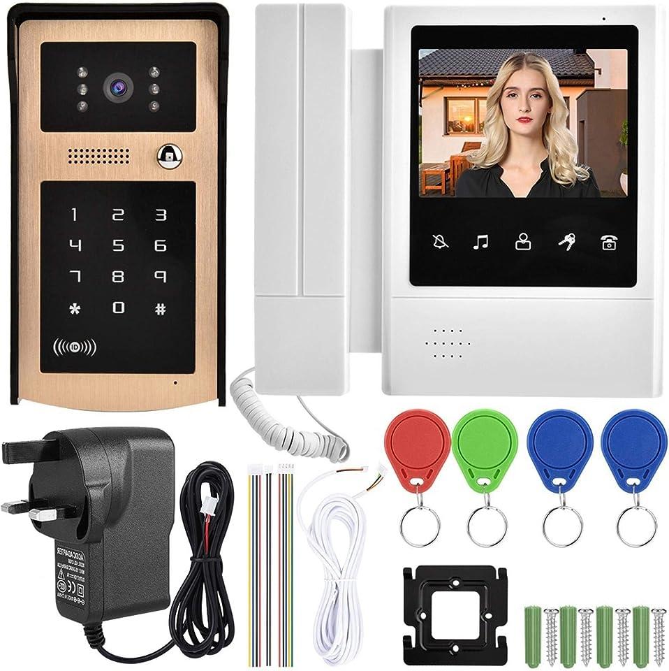 Touch-Taste Kamera Türklingel Türbetrachter Ring Lautstärke einstellbar, für das(European Standard 100-240V)