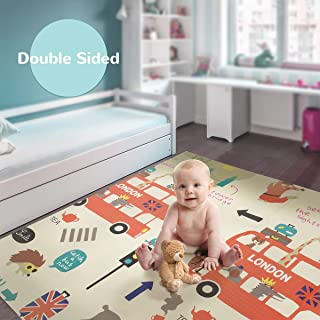 Koochie-Koo Baby Reversible Play Mat, Baby Crawling Mat, Outdoor/Indoor Use Double Sided Insulated Waterproof Floor Mat 15...