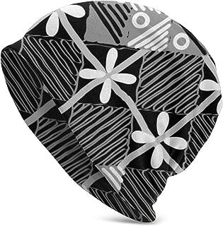Lattice Three-Dimensional Butterfly Classic Unisex Winter Warm Knitting Hats Beanie Hats Skull Cap Black