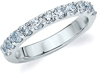 Legacy 1.0 CT Lab Grown Diamond Wedding Ring in 14K Gold, Sparkling in F-G Color and VS Clarity