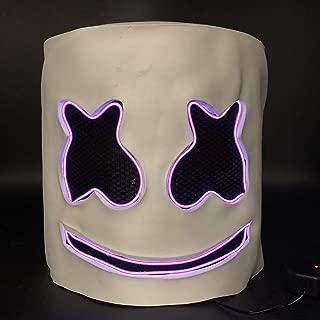 Luminous Helmet Mask Cosplay Prop Halloween Mask Full Face Cosplay Prop Halloween Party Bar Music Masks - Purple