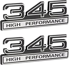 345 5.7 Liter High Performance Engine Emblems in Chrome & Black Trim - 4