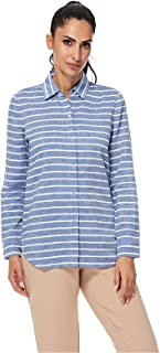 NAUTICA Shirts For Women, Blue & White XXS