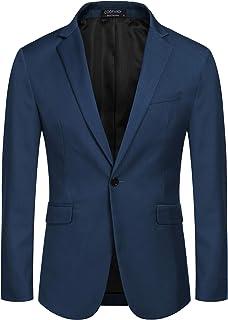 Coofandy Mens Slim Fit Casual One Button Blazer Jacket Sport Coat