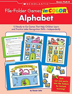 File-Folder Games in Color: Alphabet: 10 Ready-to-Go Games That Help Children Learn and Practice Letter-Recognition Skills-Independently