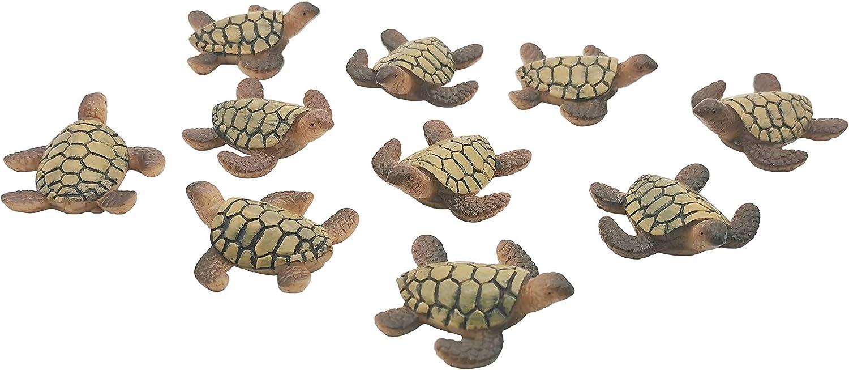 Exasinine 10 Pcs Sea Turtle Statue Fi Direct sale of manufacturer Resin Limited time trial price Miniature