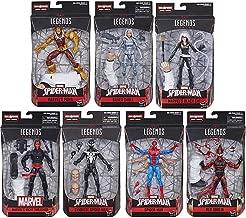 Husbro Spider-Man Legends: Six Arm Spider-Man, Symbiote Spider-Man, Black Cat, Silver Sable, Puma, Night Thrasher, Red Goblin Figure Assortment