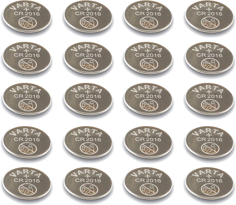 Varta Cr2016 Knopfzellenprimärbatterie Stahl Cr 2016 10er Pack Küche Haushalt