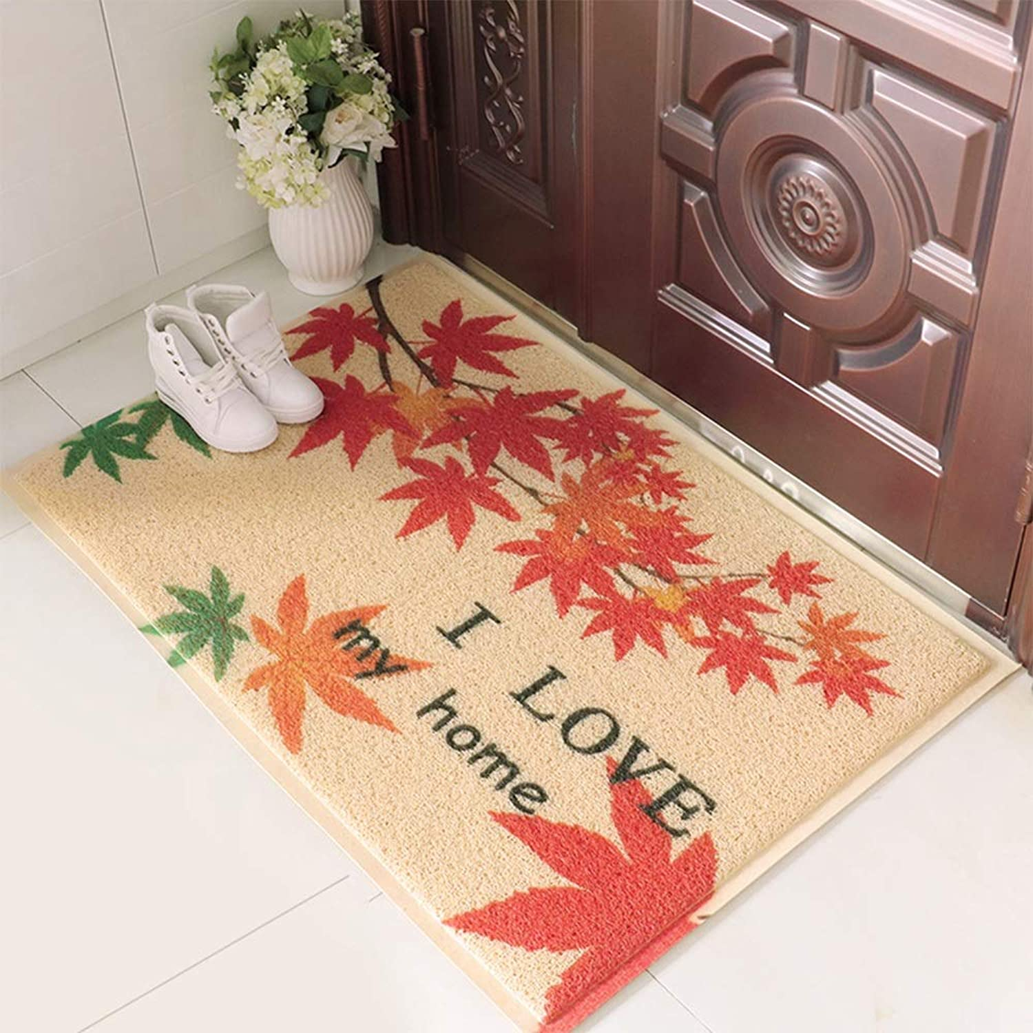 Ping Bu Qing Yun Floor mat - Blended Fabric TPR Anti-Skid Rubber Sole, Sweeping dust, Thickening Anti-Skid, European Foyer Porch Door mat mat mat Anti-Slip mat - 5 Styles Optional Carpet