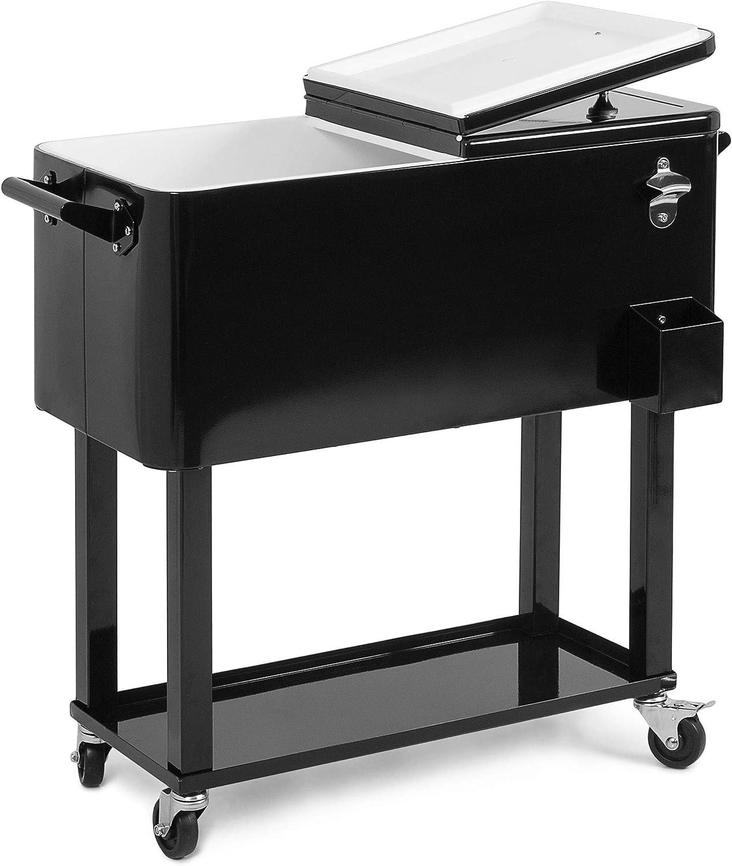 BELLEZE Quart Patio Deck Cooler Sale Steel Cons Rolling Outdoor Cheap SALE Start Solid