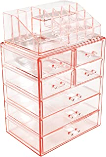 Sorbus Acrylic Cosmetic Makeup and Jewelry Storage Case Display - Spacious Design - Great for Bathroom Dresser Vanity and ...