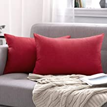MIULEE Pack of 2 Decorative Outdoor Solid Waterproof Throw Pillow Covers Cotton Linen Garden Farmhouse Cushion Cases for P...