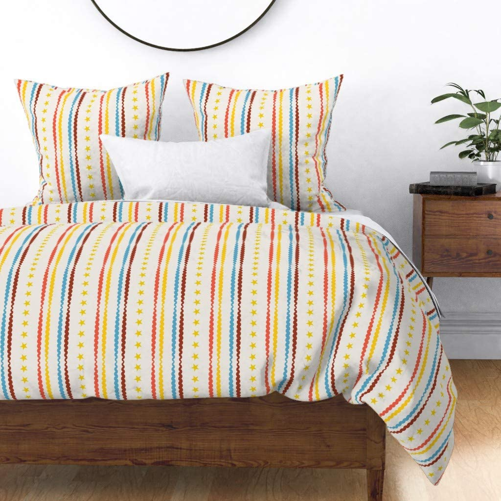 quality assurance Roostery Duvet Cover Circus Nursery Stripes Decor Max 76% OFF Stripe