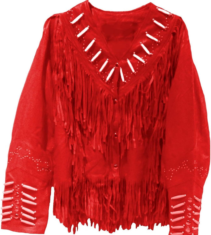 Classyak Women's Western Jacket Freinged & Bones Work
