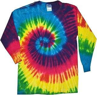 Tie Dye T-Shirts Multicolor Reactive Long Sleeve Kids & Adult Size